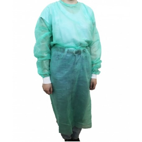 Sterile surgical coat, green, size XL, CE 1011, 30 g/m2
